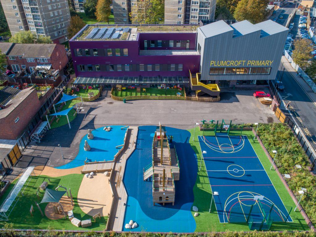 Plumcroft Primary was designed by architects Pollard Thomas Edwards