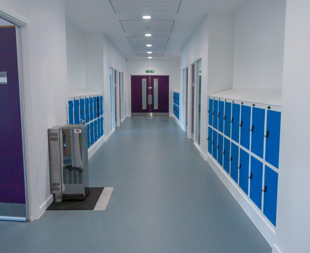 Locker room at Plumcroft Primary