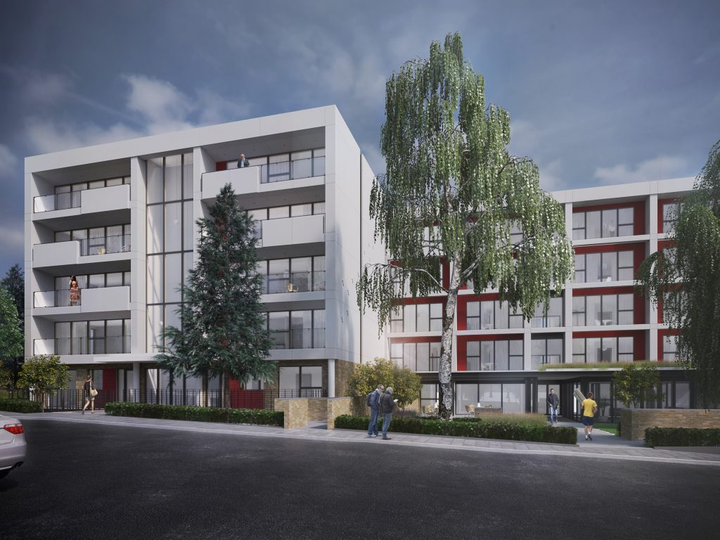 Artist impression of new Beaumont Rise apartments with visually attractive facade (Courtesy of Hobs 3D)
