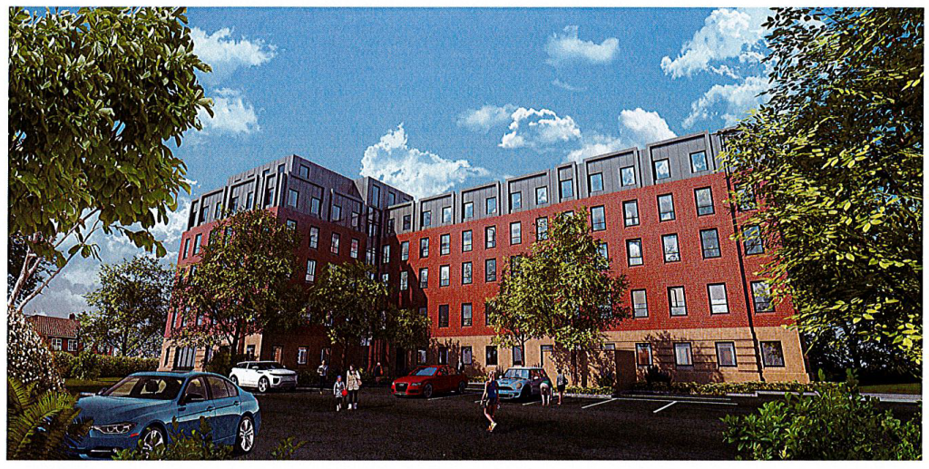 Artist impression of finished Ceaser Court Apartments