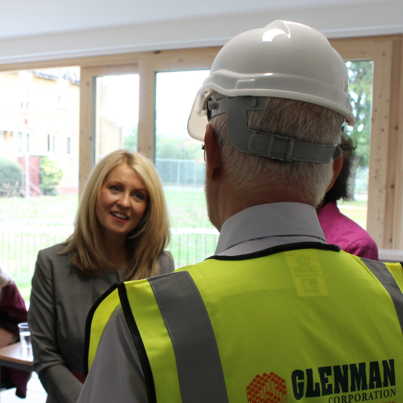 Housing Minister Esther McVey was at Edward Foster Court in Battersea to celebrate the centenary of the Addison Act and 100 years of council housing.