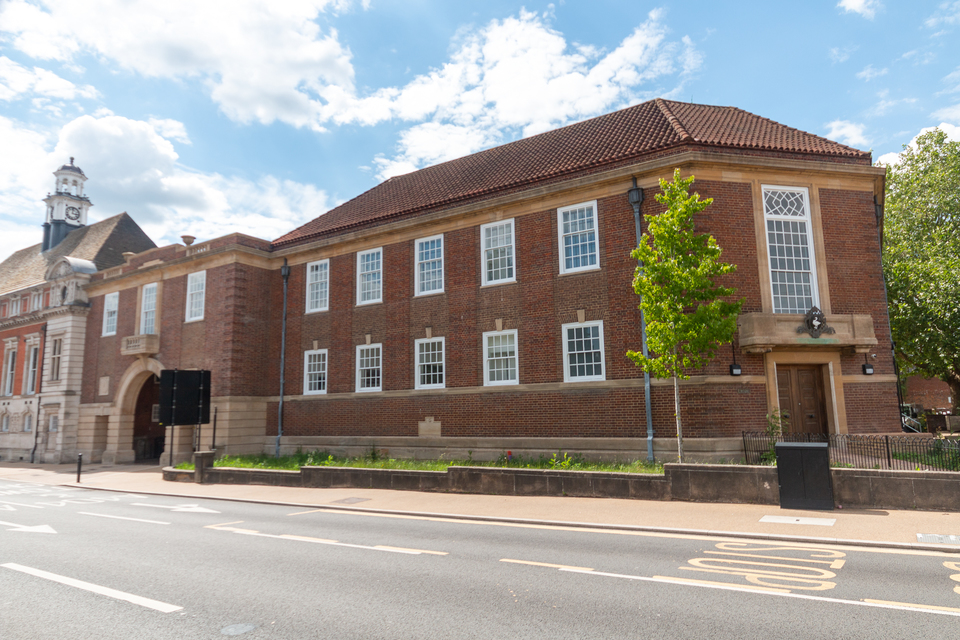 High Wycombe old library on Queen Victoria Road.