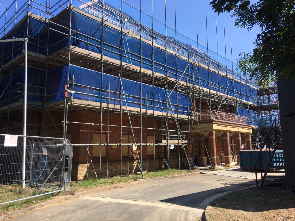 Development of the new Ceaser Court Apartments in Spelthorne well under way