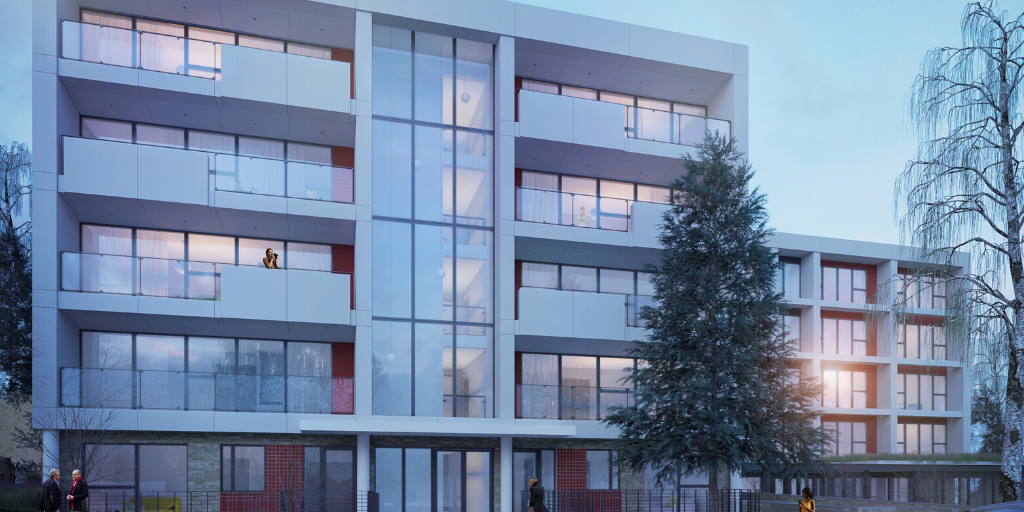 Beaumont Rise includes the construction of 27 residential units for the London Borough of Islington. (Image courtesy of Hobs 3D)
