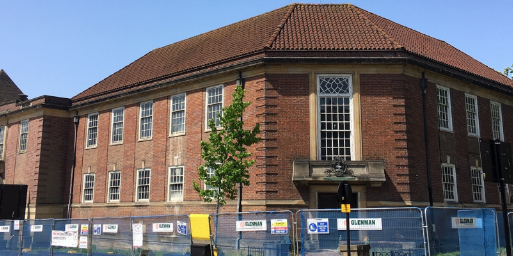 Conversion of the High Wycombe Old Library into offices for Wycombe District Council.